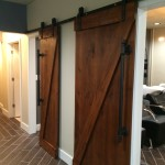 Barn Door Entrances to Shampoo Lounge